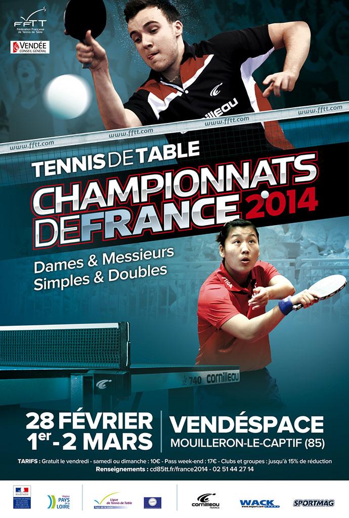 Tennis de table 2 wild cards f minines pour les france - Championnat departemental tennis de table ...