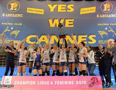 RC Cannes Champion de France 2018-2019 de Ligue AF - Volley Féminin - Sport Féminin - Femmes de Sport