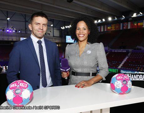 Xavier Hamel et Amélie Goudjo - beIN SPORTS - Handball féminin - Sport Féminin - Femmes de Sport